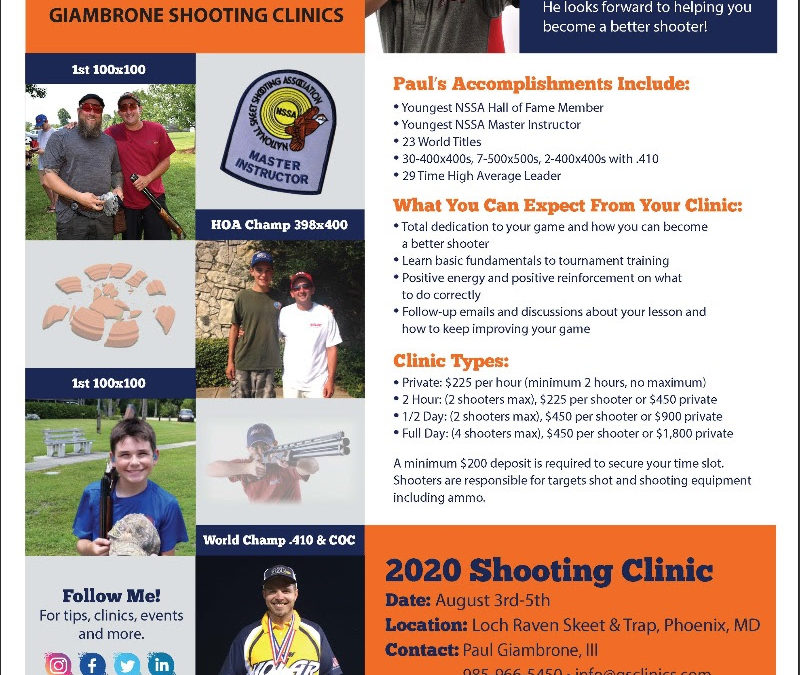 GIAMBRONE SHOOTING CLINICS